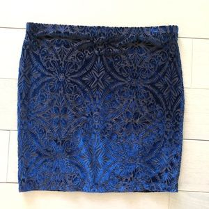 NWT Design Lab Lord & Taylor Velvet Pull on Skirt